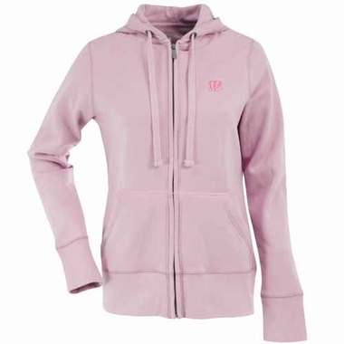 Cincinnati Bengals Womens Zip Front Hoody Sweatshirt (Color: Pink)