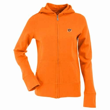 Cincinnati Bengals Womens Zip Front Hoody Sweatshirt (Team Color: Orange)