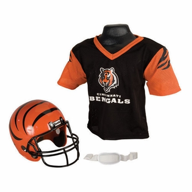 Cincinnati Bengals Youth Helmet and Jersey Set