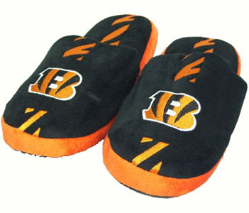 Cincinnati Bengals YOUTH Team Stripe Slide Slippers - Medium