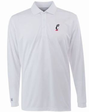 Cincinnati Mens Long Sleeve Polo Shirt (Color: White)