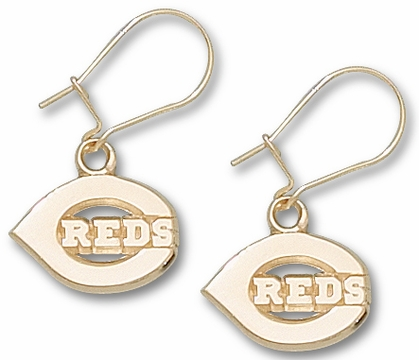 Cincinnati Reds 10K Gold Post or Dangle Earrings