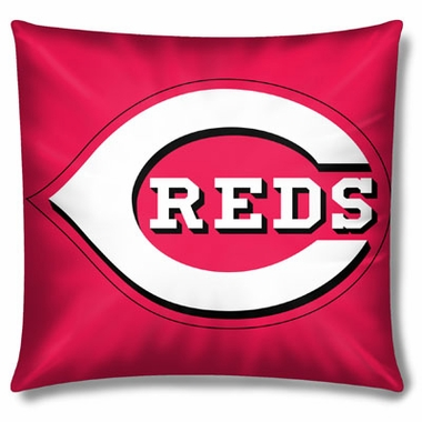 Cincinnati Reds 15 Inch Applique Pillow