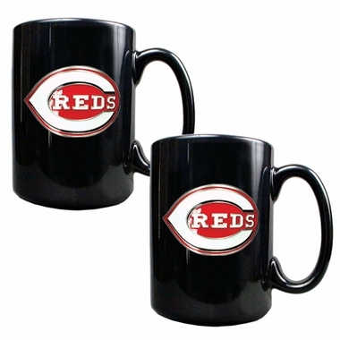 Cincinnati Reds 2 Piece Coffee Mug Set