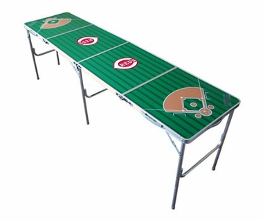 Cincinnati Reds 2x8 Tailgate Table