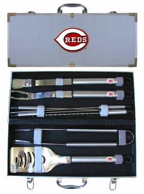 Cincinnati Reds 8pc. BBQ Set w/Case