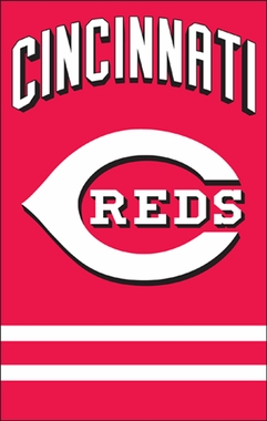 Cincinnati Reds Applique Banner Flag