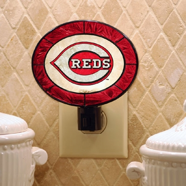 Cincinnati Reds Art Glass Night Light