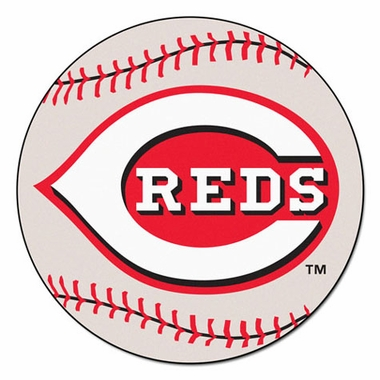 Cincinnati Reds Baseball Shaped Rug
