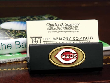 Cincinnati Reds Business Card Holder (Black)