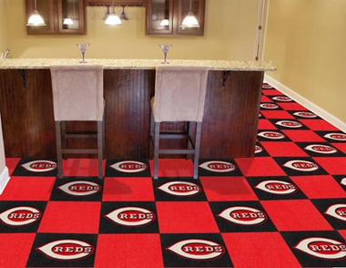 Cincinnati Reds Carpet Tiles