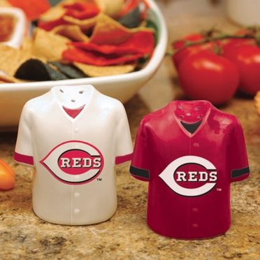 Cincinnati Reds Ceramic Jersey Salt and Pepper Shakers