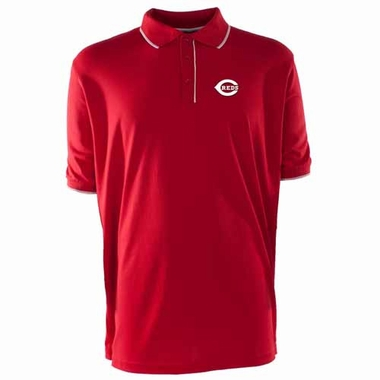 Cincinnati Reds Mens Elite Polo Shirt (Team Color: Red)