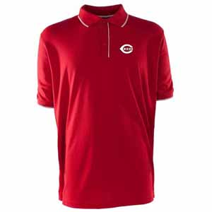 Cincinnati Reds Mens Elite Polo Shirt (Team Color: Red) - Small