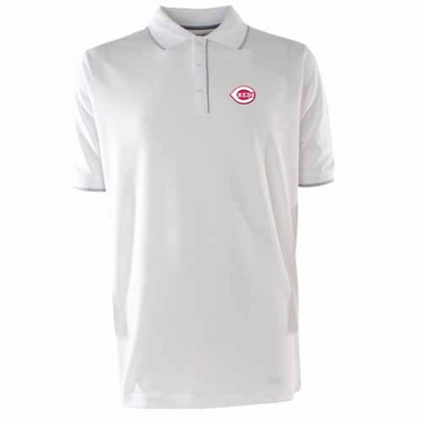 Cincinnati Reds Mens Elite Polo Shirt (Color: White)