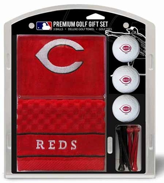 Cincinnati Reds Embroidered Towel Gift Set