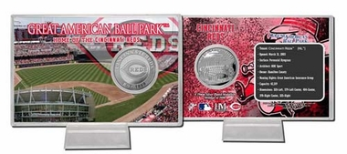 Cincinnati Reds Great Amercian Ball Park Silver Coin Card