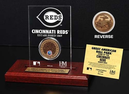 Cincinnati Reds Great American Ball Park Infield Dirt Coin Etched Acrylic
