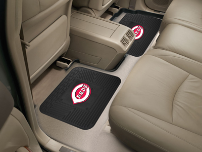 Cincinnati Reds SET OF 2 Heavy Duty Vinyl Rear Car Mats