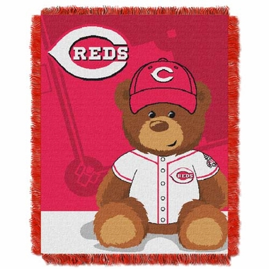 Cincinnati Reds Jacquard BABY Throw Blanket