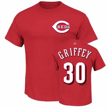 Cincinnati Reds Ken Griffey Jr. Majestic Cooperstown Player T-Shirt