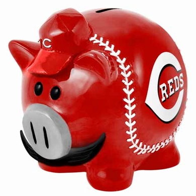 Cincinnati Reds Large Thematic Piggy Bank