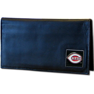 Cincinnati Reds Leather Checkbook Cover (F)