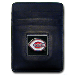 Cincinnati Reds Leather Money Clip (F)