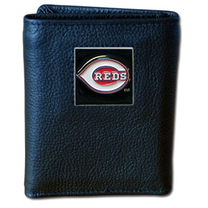 Cincinnati Reds Leather Trifold Wallet (F)