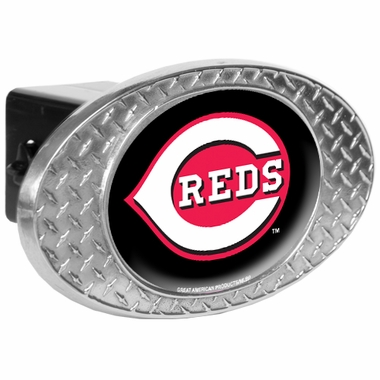 Cincinnati Reds Metal Diamond Plate Trailer Hitch Cover