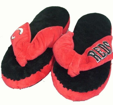 Cincinnati Reds Plush Thong Slippers