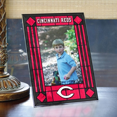 Cincinnati Reds Portrait Art Glass Picture Frame