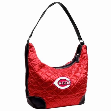 Cincinnati Reds Quilted Hobo Purse