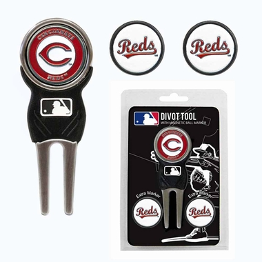 Cincinnati Reds Repair Tool and Ball Marker Gift Set