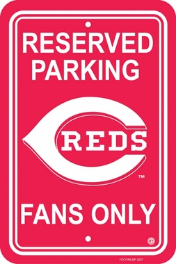 Cincinnati Reds Plastic Parking Sign (P)