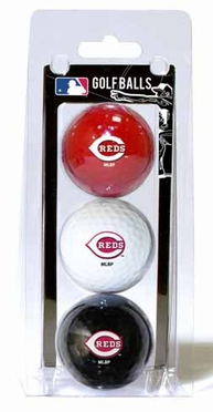 Cincinnati Reds Set of 3 Multicolor Golf Balls