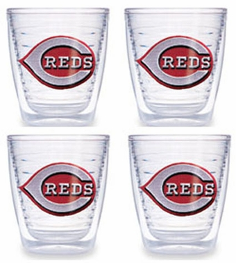 Cincinnati Reds Set of FOUR 12 oz. Tervis Tumblers