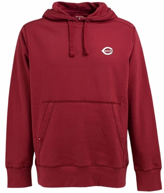 Cincinnati Reds Mens Signature Hooded Sweatshirt (Color: Red)