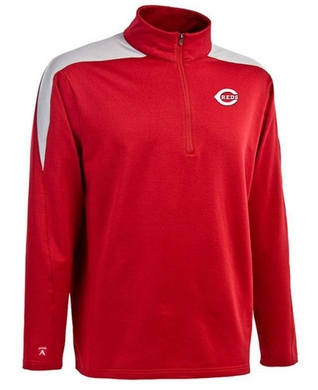 Cincinnati Reds Mens Succeed 1/4 Zip Performance Pullover (Team Color: Red)