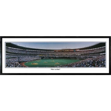 Cincinnati Reds Who's at Bat Framed Panoramic Print