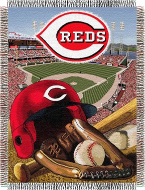 Cincinnati Reds Woven Tapestry Throw Blanket