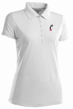 Cincinnati Womens Pique Xtra Lite Polo Shirt (Color: White)