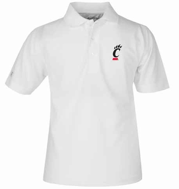 Cincinnati YOUTH Unisex Pique Polo Shirt (Color: White)