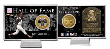 Cincinnati Reds Joe Morgan Hall of Fame Coin Card