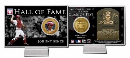 Cincinnati Reds Johnny Bench Hall of Fame Coin Card