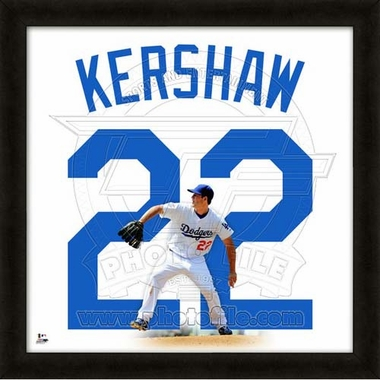 "Clayton Kershaw, Dodgers UNIFRAME 20"" x 20"""