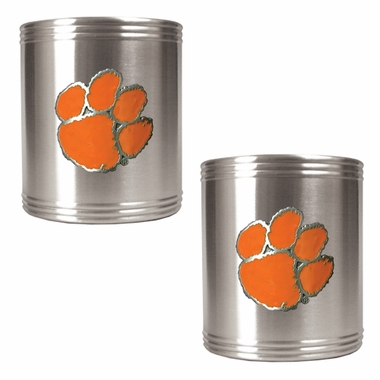 Clemson 2 Can Holder Set