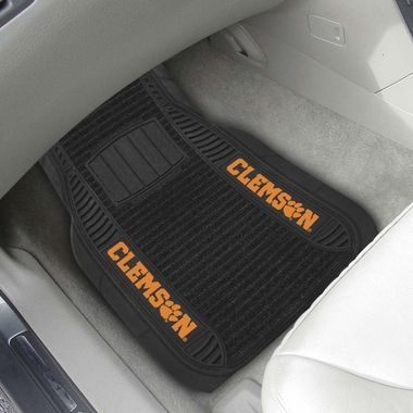 Clemson 2 Piece Heavy Duty DELUXE Vinyl Car Mats
