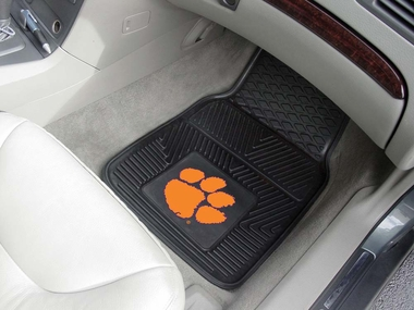Clemson 2 Piece Heavy Duty Vinyl Car Mats