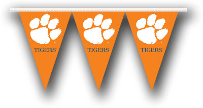 Clemson 25 Foot String of Party Pennants (P)